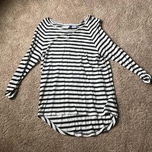 White & black striped shirt